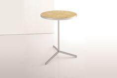 DG ST201 Museum Side Table Inset Top: Wood Metal Base
