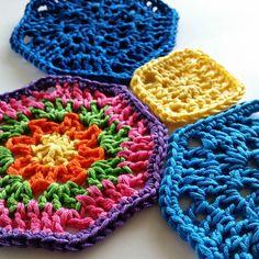 Octagon Motif By Shelley Husband - Free Crochet Pattern - (ravelry)