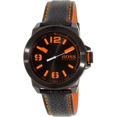 Hugo Boss Men's 1513152 Black Leather Quartz Watch
