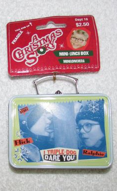 A Christmas Story Ornament Mini  Lunchbox I Triple-Dog Dare You!