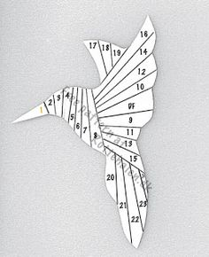 Cand.Selv: Iris folding templates