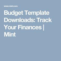 mint budget template