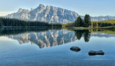 Rocks at Two Jack by Jeff Clow, via 500px Two Jack Lake in Banff National Park, Alberta, Canada.