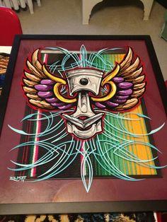 , Pinstripe Art, Pinstriping Designs, Garage Art, Paint Stripes, Airbrush Art, Lowbrow Art, Pinup, Lost Art, Automotive Art
