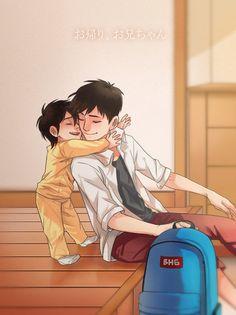 Young Tadashi and Hiro - big-hero-6 Fan Art