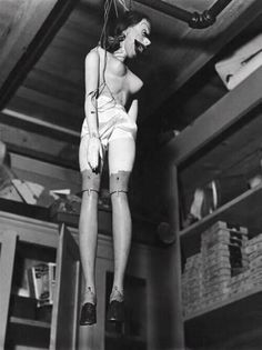 Puppet of actress Martha Raye - photo by Margaret Bourke-White~WTF? Documentary Photographers, Female Photographers, Martha Raye, Margaret Bourke White, Imogen Cunningham, William Eggleston, Man Ray, Creepy Dolls, Doll Parts