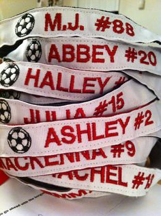Custom Soccer Athletic Sport Headband  add Player by PurpleLicious, $10.50
