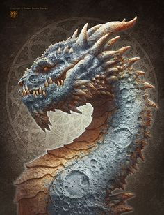 Moon dragon by Kerem Beyit