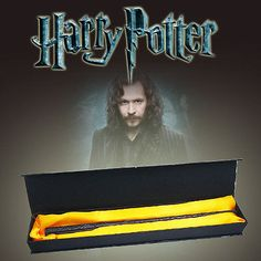 """Add this Sirius Black wand to your collection of Harry Potter magic wands. This high quality 14.5"""" PVC resin over metal core replica will look great on display. And the realistic weight will make it m"""