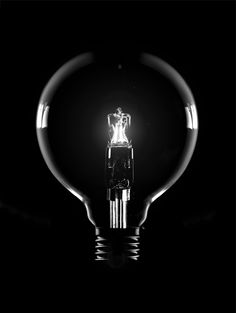 Light Bulb by Kenyon Manchego Black Photography, Still Life Photography, Black N White Images, Black And White, Aesthetic Colors, Dark Matter, Black Heart, Shades Of Black, Transparent