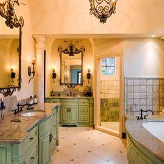 bathroom green bathroom design ideas pictures remodel and decor page 5 - Tuscan Bathroom Design
