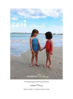 The cosi swimsuit PDF pattern by sewponyvintage on Etsy, $8.00