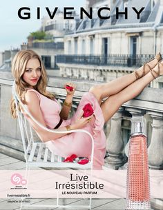 Givenchy Live Irrésistible Perfume Actress Amanda Seyfried