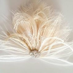 Check out this item in my Etsy shop https://www.etsy.com/listing/457198706/wedding-fascinator-feather-hair-clip