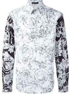 VERSACE Floral Print Shirt. #versace #cloth #shirt