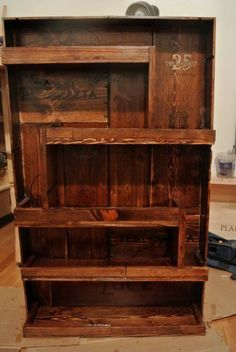 1000 images about home decor for foodies and wine for Wine crate furniture