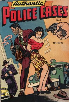 Comic Book Cover For Authentic Police Cases #2