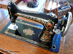 My New Antique Sewing Machine! by Kim Naumann - Curiouser & Curiouser Designs, via Flickr