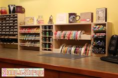 Perfect scrapbook supply organization at your fingertips