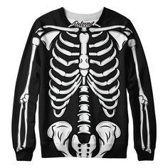 Black Skeleton Sweatshirt from Beloved Shirts