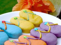 Nutterbutter flip flop cookies.  These would be so cute for a pool party.