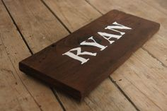 Wooden Customized Name Sign Reclaimed Wood Sign by kashturana