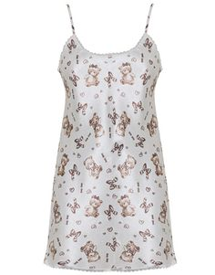 ANY ANY Camisola curta cetim puppy cachecol I Cool, Pyjamas, Polka Dot Top, Baby Dolls, Ideias Fashion, Tank Tops, Dresses, Women, Style
