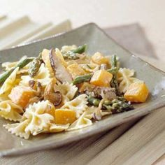 Pasta with butternut squash, asparagus and mushrooms! :)