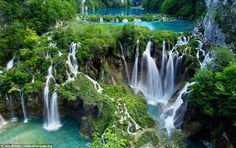The Plitvice Lakes National Park (the oldest natural park in southeast Europe) in the Lika region of Croatia has 16 stunning blue-green Plitvice Lakes separated by natural dams of travertine limestone on the Plitvice plateau, which in turn form beautiful caves, rivers and waterfalls.