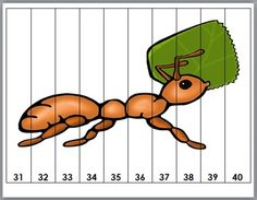 Insects Counting Puzzles - Numbers 1-120