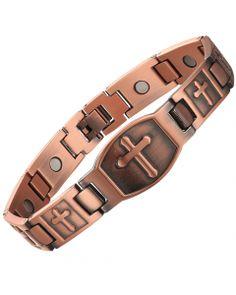100% Copper Magnetic Bracelet Metal Bracelets, Bracelets For Men, Bracelet Men, Repetitive Strain Injury, Pure Copper, Arthritis Pain Relief, Healing Bracelets, Wholesale Jewelry, Therapy