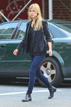 Clemence Poesy - Clemence Poesy Running Some Errands In New York  boots