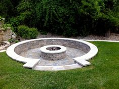 fire pit with built in seating :)