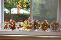 Preschool Project:  Embroidery Hoop Leaf Suncatchers... - Buzzmills