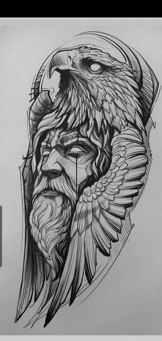 Viking Tattoo Symbol, Norse Tattoo, Viking Tattoos, Viking Tattoo Design, Eagle Tattoo Arm, Eagle Tattoos, Arm Band Tattoo, Full Sleeve Tattoo Design, Tattoo Design Drawings