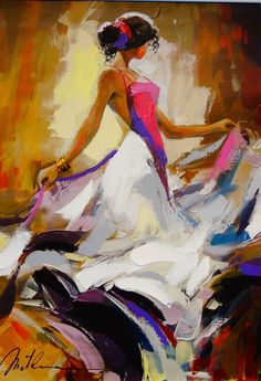 Gros peinture à l'huile peinture nu Sexy Lady femme