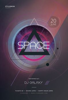 Space Flyer Template by styleWish (Buy PSD file $9)