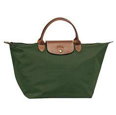 Longchamp Le Pliage Top Handle Bag, Medium, Loden *** For more information, visit