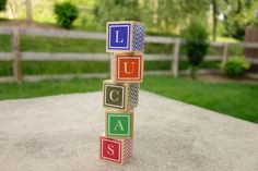 You hemmed and hawed over her moniker for months, it's only natural that you want to display it with pride now. Pick out colors that jive with the nursery, and then spell out her name on Cora & Plum's custom made blocks.  Available at etsy.com, $4.50 each.