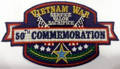 Vietnam War 50th Commemoration Embroidered Patch