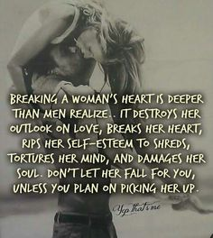 We always get back up! Next time think about it before you promise her your heart. .