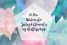 DLOLLEYS HELP: Free Watercolor Splash Elements