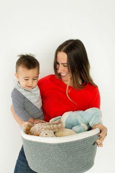 Cotton Storage Basket - Large Versatile storage basket can hold baby toys, diapers, art/craft suppli Kids Bedroom Storage, Playroom Storage, Nursery Storage, Small Bathroom Storage, Ikea Storage, Storage Baskets, Baby Toys, Comic Book Storage, Baby Clothes Storage
