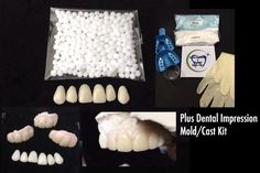 Your place to buy and sell all things handmade Veneers Teeth, Dental Veneers, Fix Teeth, Cracked Tooth, Tooth Replacement, Missing Teeth, Casting Kit, Front Teeth