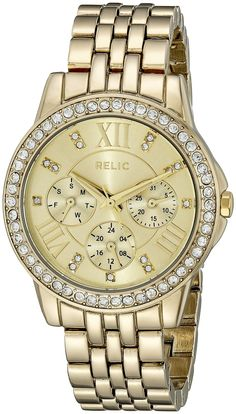 Relic Women's ZR15754 Layla Goldtone Watch * Check this awesome watch by going to the link at the image.