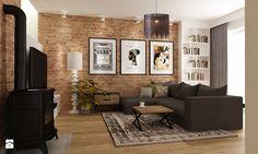 Dom w Stylu Neokolonialnym poznań - Średni salon z bibiloteczką, styl eklektyczny - zdjęcie od Grafika i Projekt architektura wnętrz