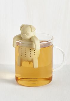 A pug who's great at steeping tea. | 19 Adorable Products Just Looking For Someone To Love Them