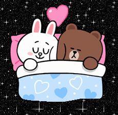 Good Night Gif, Good Night Wishes, Cute Couple Cartoon, Cute Love Cartoons, I Love You Hubby, Calin Gif, Bear Gif, Cony Brown, Evening Greetings