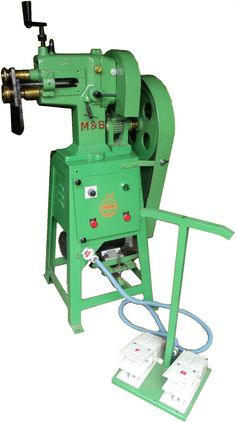 Hand Operated Swaging Machine     Universal Swaging Machines will perform a multitude of rotary operations in sheet metal    'M&B' Univ...