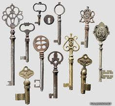 I think I love these elaborate old keys because they convey a sense of elegance and mystery in one small, beautiful package.